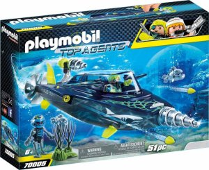 Playmobil 70005 Spy Team plavidlo Shark Destroyer
